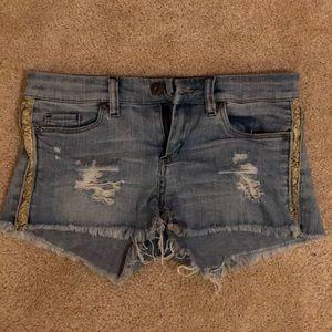 BLANKNYC snakeskin Jean shorts